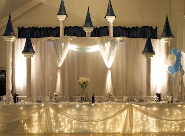 Disney inspired castle backdrop and head table. www ...