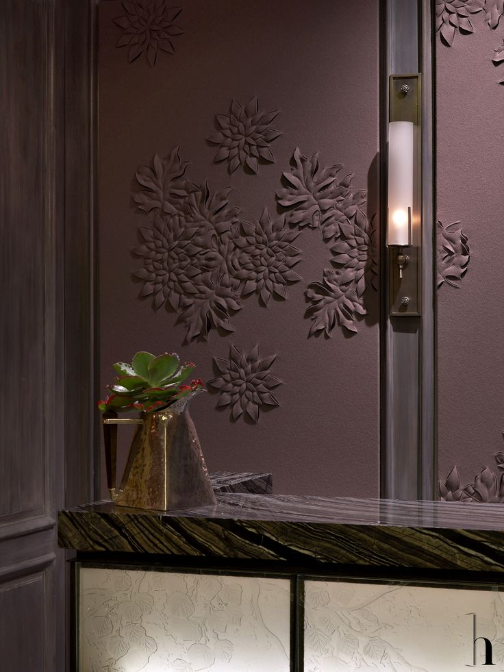 I love this wall texture and color. Maybe for a bathroom or guest room?  St Regis Hotel, Aspen