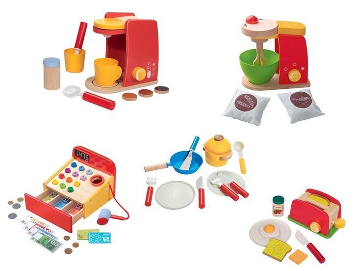 Houten speelkeuken/-winkel accessoires