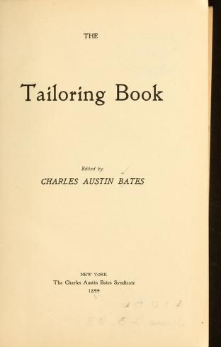 The tailoring book 1899