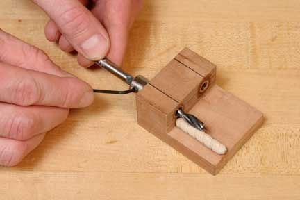 shop-made dowel jig
