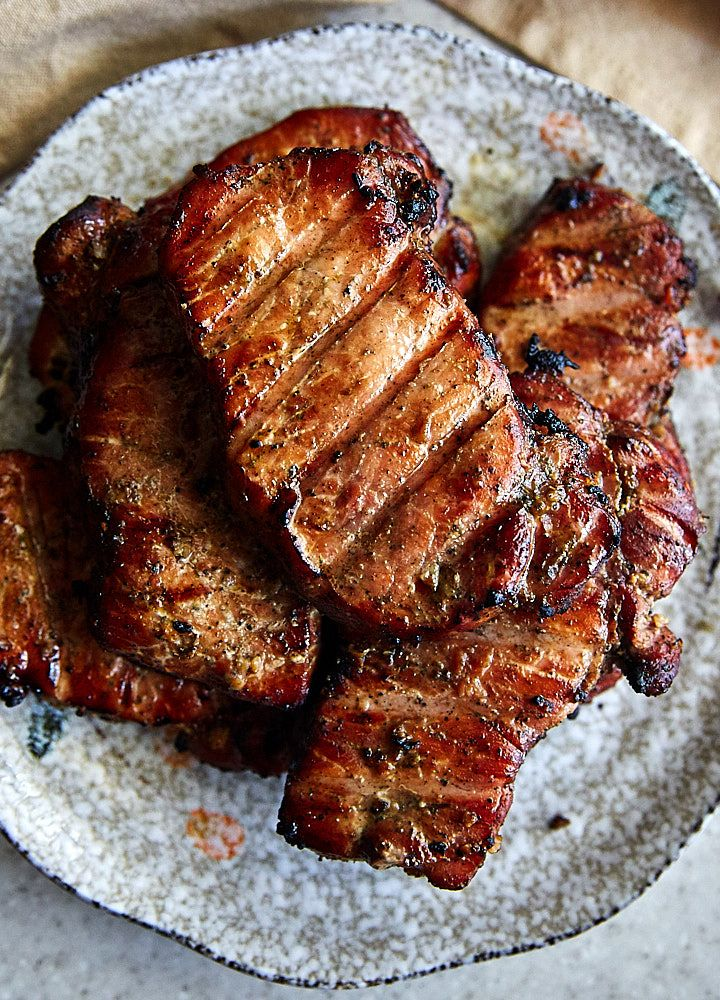 Smoked pork chops, tender and juicy, reverse seared for that beautiful caramelization. No brining or marinating needed.