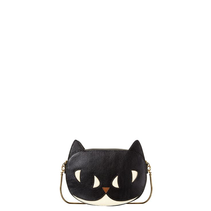 Orla Kiely: COMING SOON! Please contact our Mercer Street store for more information...    Fully lined animal bag with detachable gold chain. Main body of bag has a zip to close and small inside patch pocket.