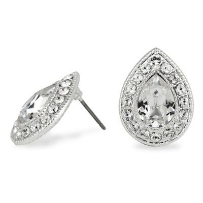 Clara crystal peardrop stud earring made with SWAROVSKI ELEMENTS at debenhams.com