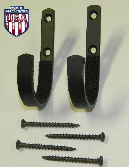 Wall Mount Gun Rack Hooks Shotgun Bow Rifle Hangers Felt