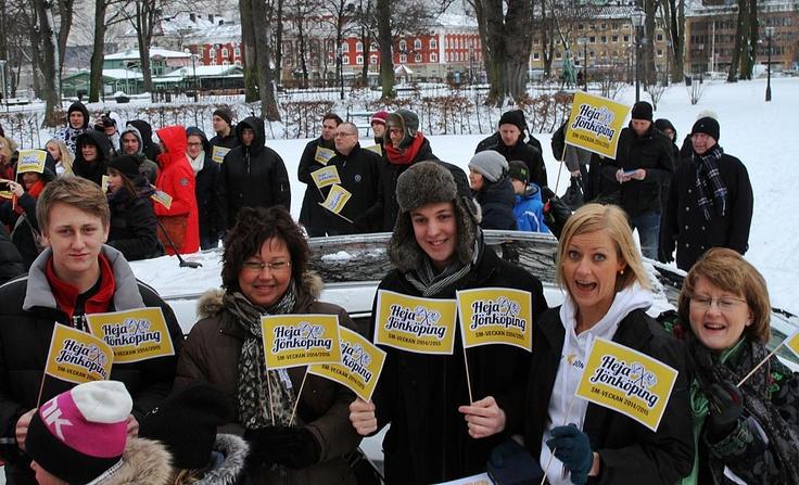Hela Delegationen som ska till Stockholm för att lämna om ansökan om SM-veckan.