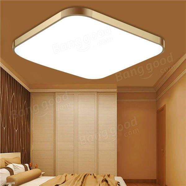 48W 39*39CM Remote Control Modern Dimming LED Ceiling Light Surface Mount for Bedroom Kitchen Sale - Banggood.com