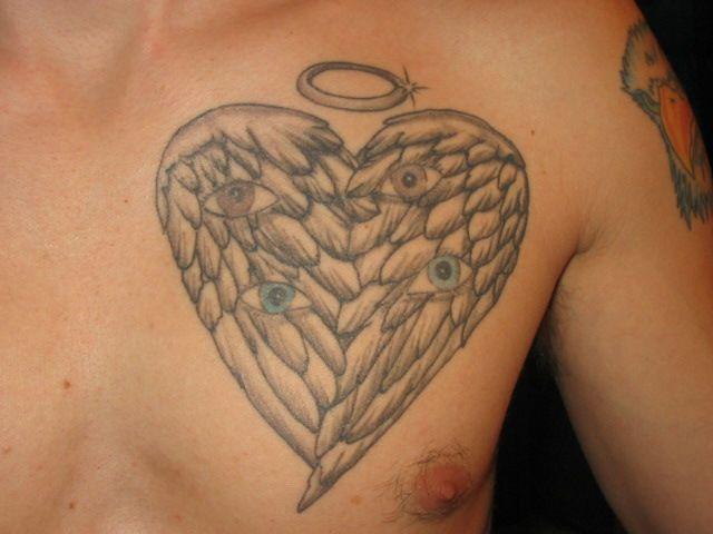 Angel halo tattoos ideas tatoo pinterest halo tattoo for Angel wings tattoo with halo