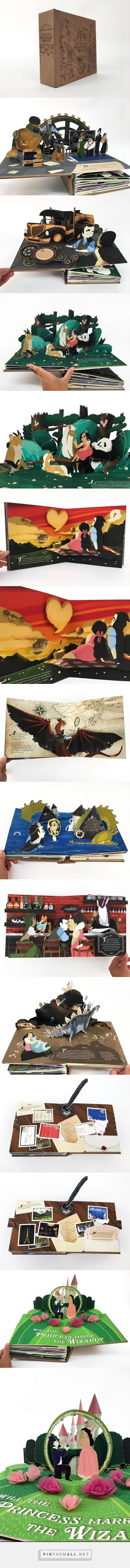 WEDDING PROPOSAL POP-UP BOOK:  The Adventures of the Princess & the Wizard CUSTOM POP-UP BOOK Custom designed and paper engineered pop-up book. 10 fully illustrated pop-up spreads