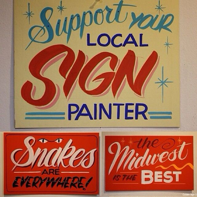 Golden Design Co. Hand painted signs