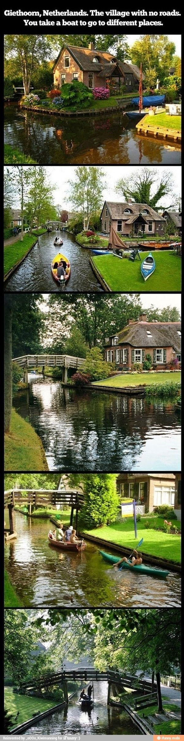 This city is in The Netherlands and like Venice, Italy, has no roads. What a quaint little town!.