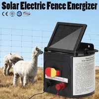 Wish | 5km/8km Solar Power Electric Fencing Energizer Farm Fence Charger Livestock Horse Cow