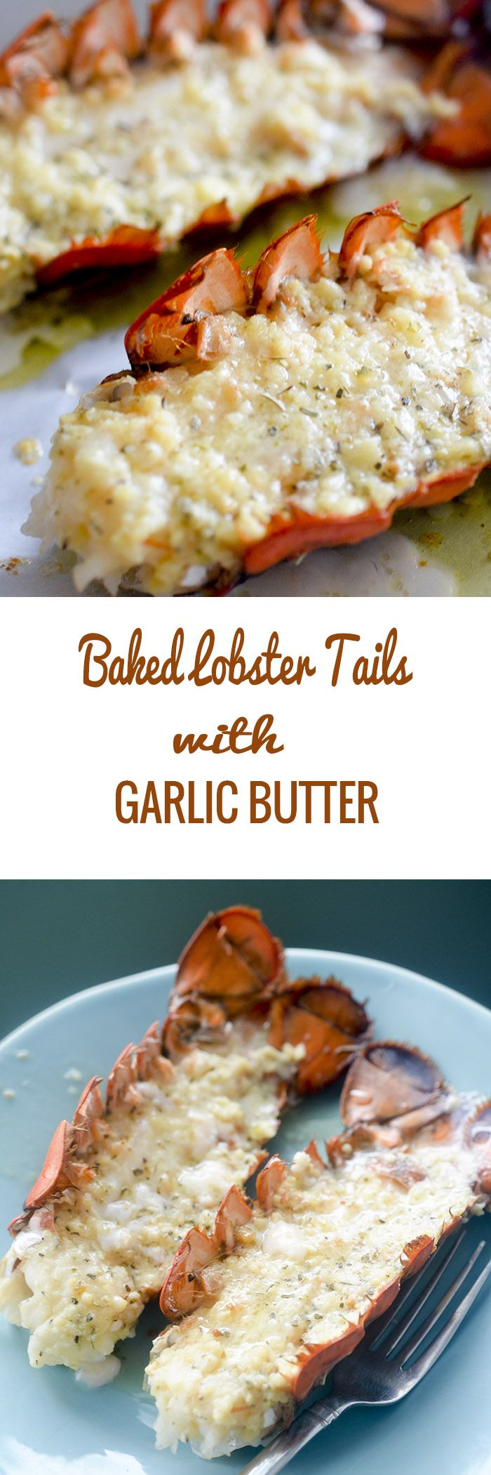 .~Baked Lobster Tails with Garlic Butter #seafood - Recipe Diaries~.
