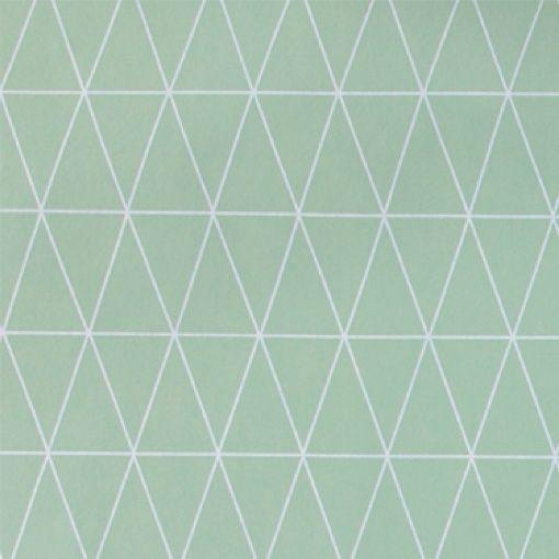 Non-woven oil cloth mint w graphic