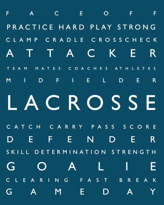 Lacrosse - Personalized Prints - Modern Playroom Prints, Kids, Tweens, Teens - Typography