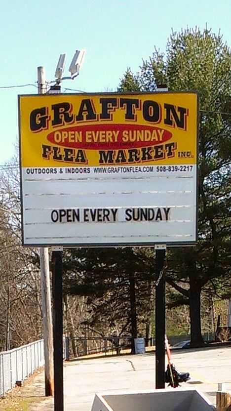 The Grafton Flea Market is open every Sunday from 6 a.m. to 4 p.m.