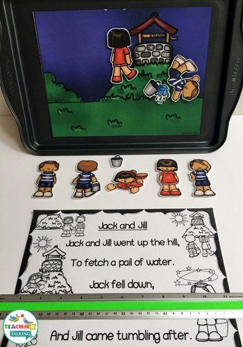 Nursery Rhyme Activity Pack - Jack & Jill Theme by teachingtalking.com                                                                                                                                                                                 More