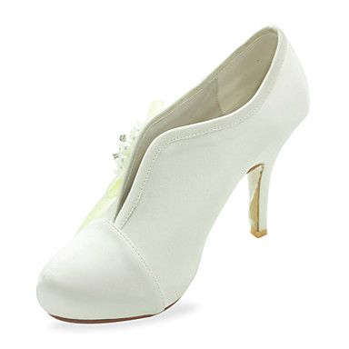 Gorgeous Satin Stiletto Heel Pumps With Imitation Pearl Wedding Shoes (More Colors) – USD $ 79.99