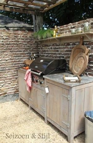 Great idea to build in your BBQ or have some outdoor furniture beside it by hilary