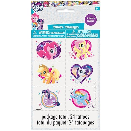 My Little Pony Temporary Tattoos   My Little Pony Party Favors