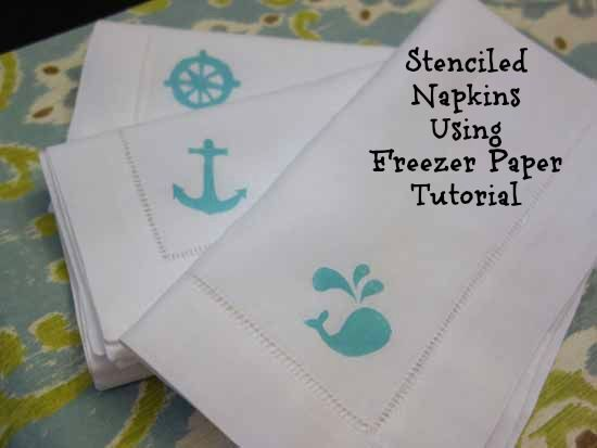 46 best napkin fold images on pinterest handkerchief crafts how to stencil napkins using freezer paper junglespirit Images