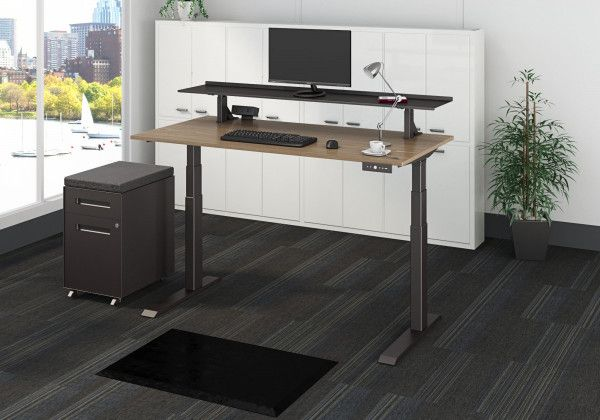 Clamp On Adjustable Height Desk Shelf Dual Monitor Stand Adjustable Height Desk Desk Shelves Dual Monitor Stand