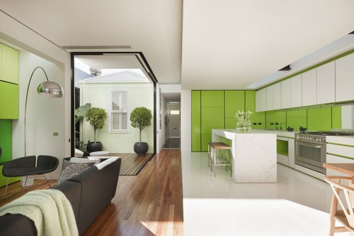 Vibrant Green Decor by Matt Gibson Studio, Australia | http://www.designrulz.com/architecture/2012/09/vibrant-green-decor-by-matt-gibson-studio-australia/