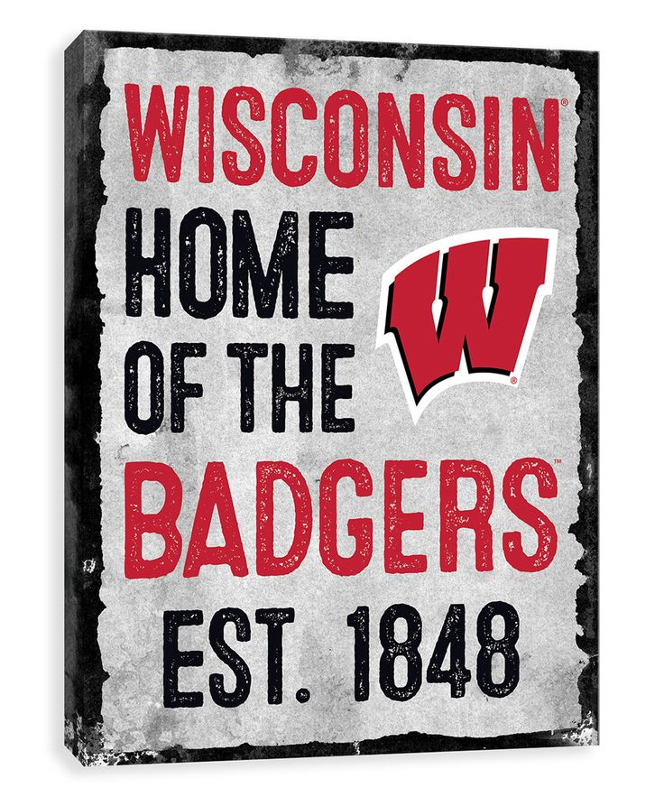 Wisconsin Badgers Home Wrapped Canvas