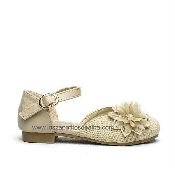 Zapatos ceremonia Beige modelo Margarita