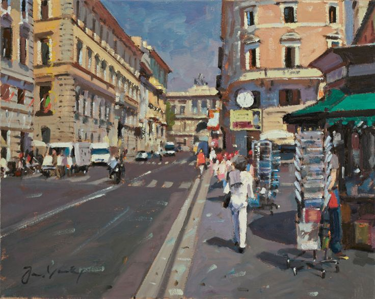 Bruce Yardley Exhibition - March 2012   Via Zanardelli, Rome