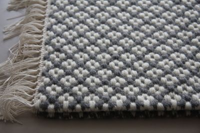 CINQオリジナル ウールのマット : t a s s <家具と手織物の工房・工芸教室>