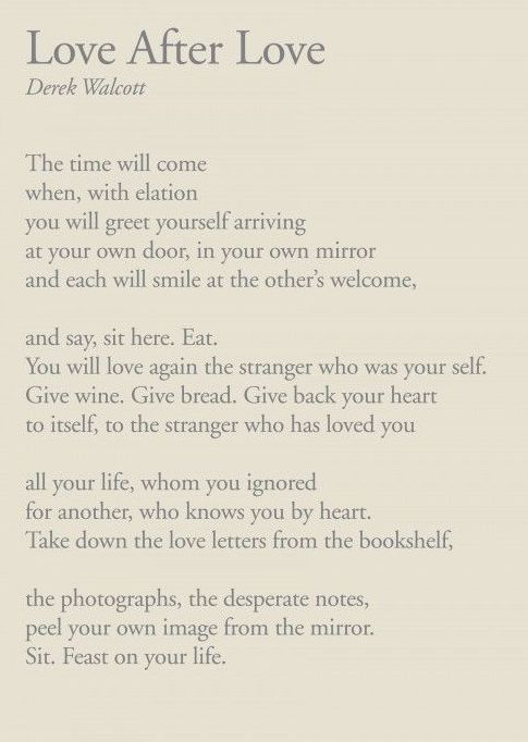 love after love poem by derek walcott poem hunter - 485×682