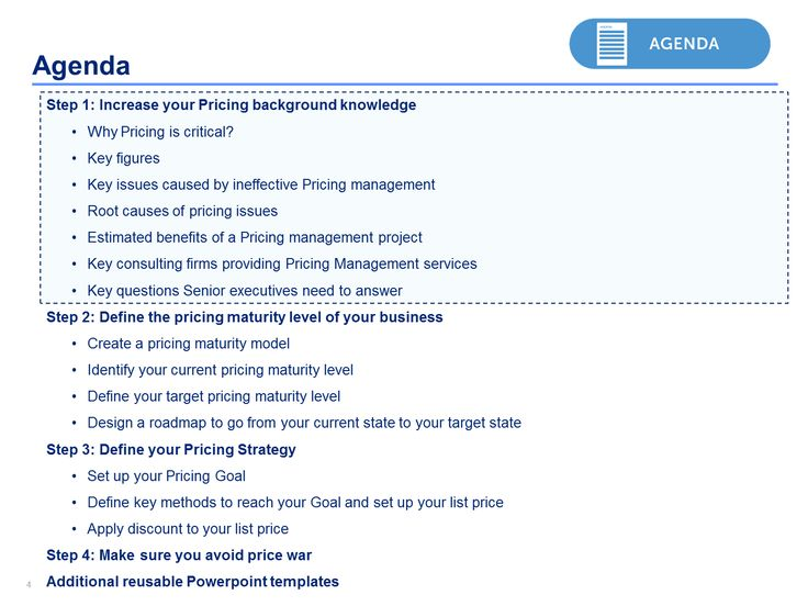 Best Pricing Strategies Template  Framework By ExMckinsey