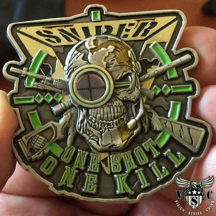 Sniper One Shot One Kill Coin $18.00