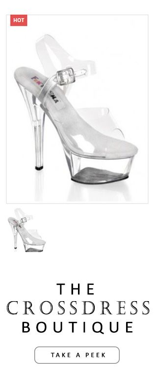 The Clear High 6 inch heel Platform Pageant Open Toe Sandal, Sexy Shoes. Click to view this now - http://www.crossdressboutique.com/info/clear-high-6-inch-heel-platform-pageant-sandal/