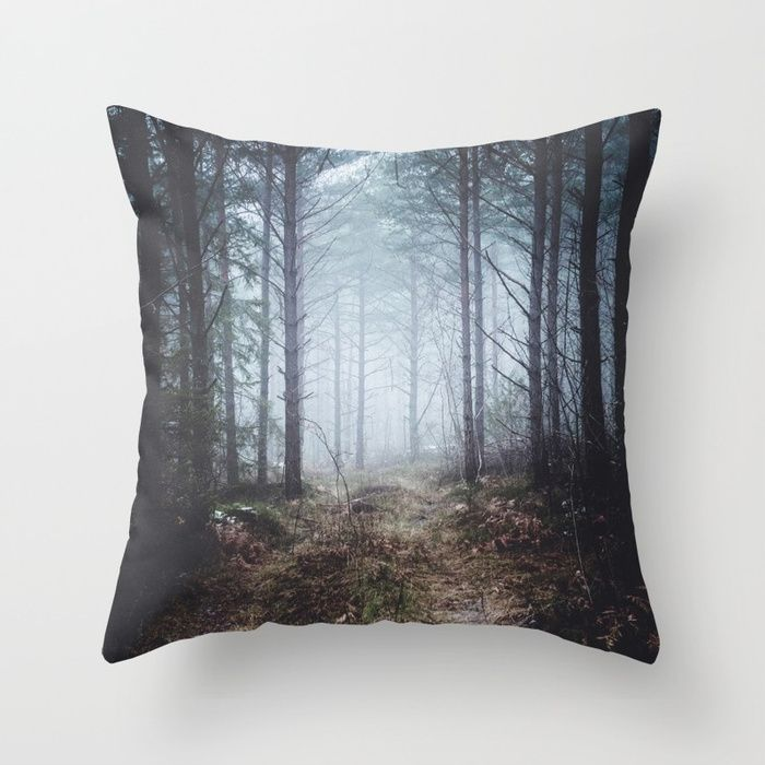 No more roads Throw Pillow by HappyMelvin. #forests #nature #photo #homedécor #pillows
