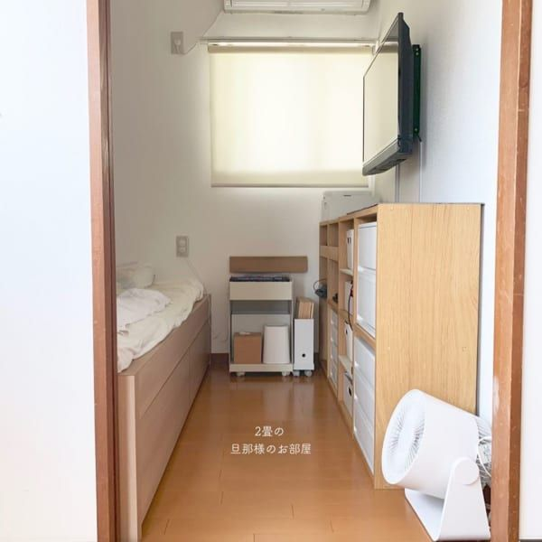 広く感じる 4畳半 レイアウト術20選 狭い寝室や和室を広々おしゃれに見せるには Folk 2021 狭い部屋 インテリア 5畳 レイアウト 寝室 レイアウト