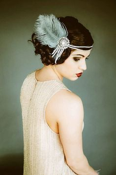 Flapper Headpiece, Vintage Inspired, Bridal Headband, The Great Gatsby, 1920s…