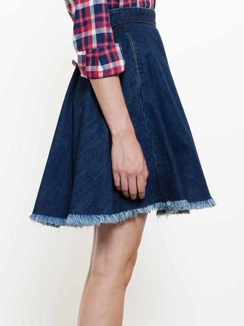 Msgm Denim Skirt - Browns - Farfetch.com