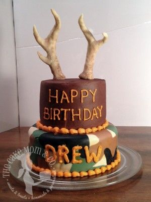 Deer Hunting Birthday Cake - for Drew