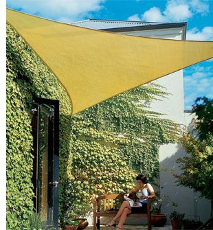 Coolaroo Patio Shades - outdoor sail material to provide some privacy and shade.