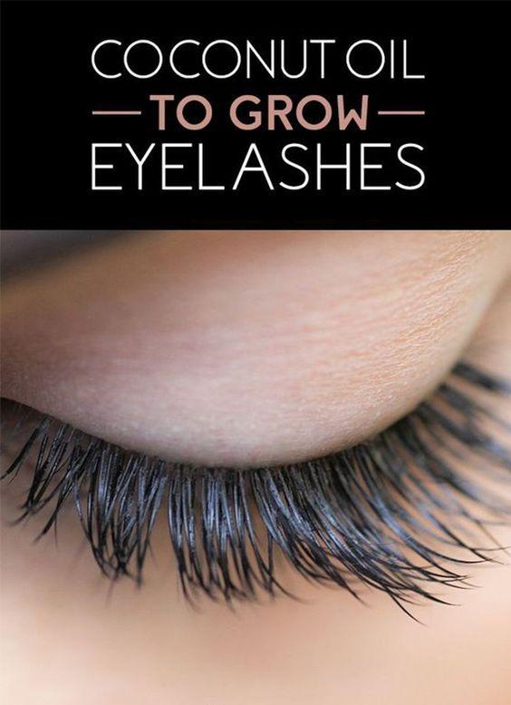 Cocnut Oil For Eyelashes Beauty Secrets Pinterest Beauty Hair