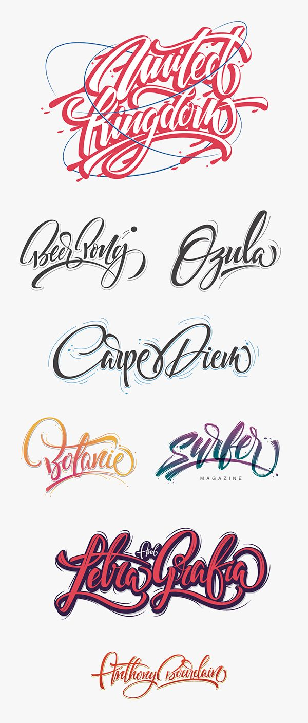Great Lettering Examples! Perfectly crafted... it's a real pleasure for Lettering lovers ;)