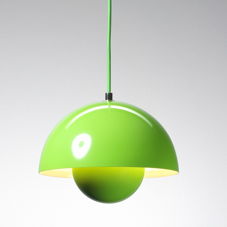 Let there be groovy, groovy light: the Flowerpot Pendant lamp. Kitchen?