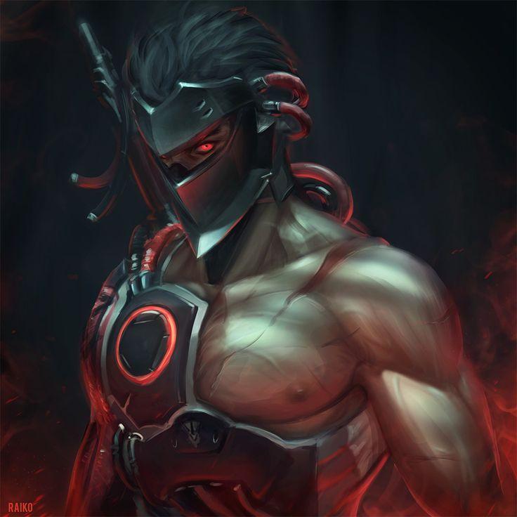ArtStation - Blackwatch Genji, Sean Tay
