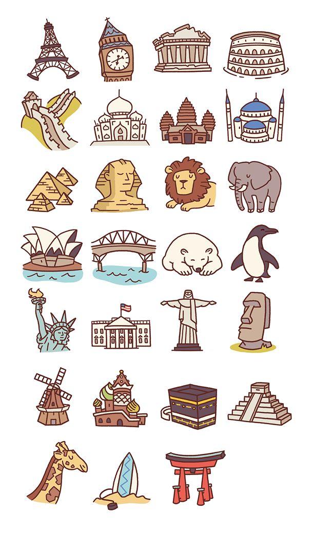 Travel icons pt 2