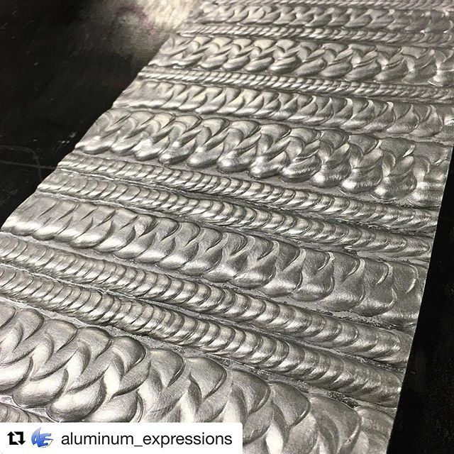 #Repost @aluminum_expressions with @repostapp ・・・ Got another warm up pad here brushing up on them weeeeaaaves #weldporn #welding #tig #weldlicious #weldaholics