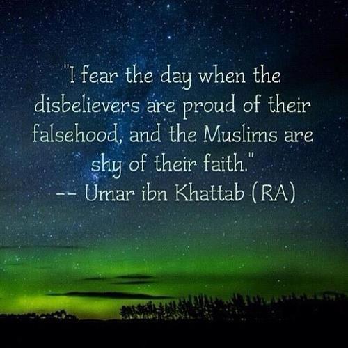 Saidini Umar Al-Khattab RA. Perhaps that day has come :(