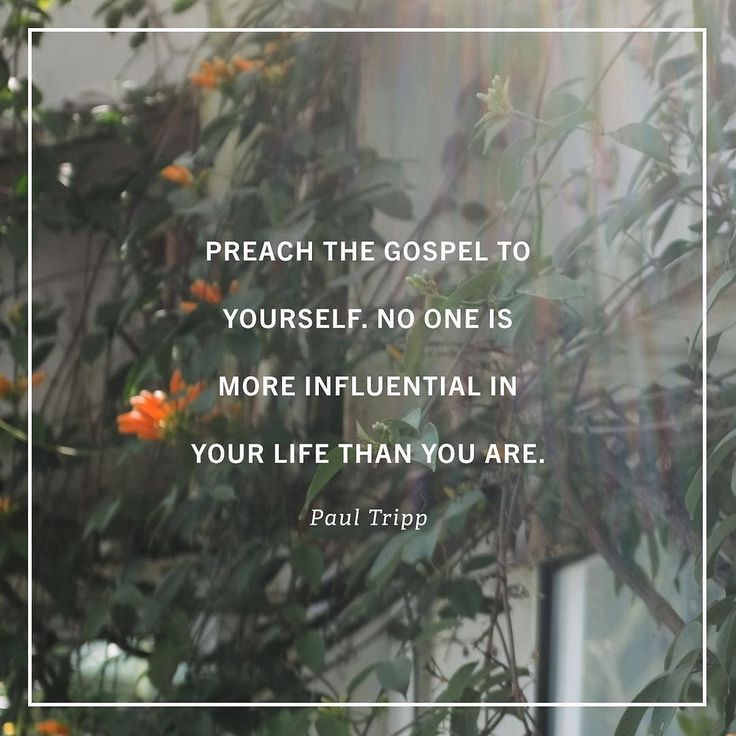 """""""Preaching the gospel to ourselves is a spiritual discipline that is both proactive and reactive. Its reactive as we encounter temptation and frustration and seek to restock in the moment or as we reflect back on our sin and circumstances and try to evaluate them with a gospel lens.   But its also proactive  it goes on the offensive  when we feed our souls in some regular rhythm before the events and tasks and disappointments of daily life begin streaming our way. Tripp counsels that we make…"""