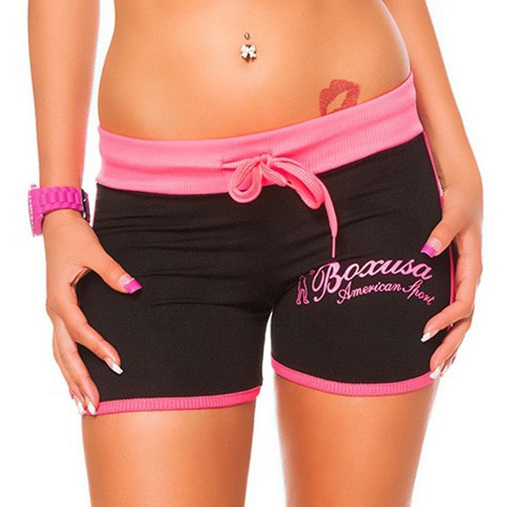 Damen Shorts Hot Pants Sport Shorts Sommer Shorts Gr. S-XXL in 5 Farben | eBay